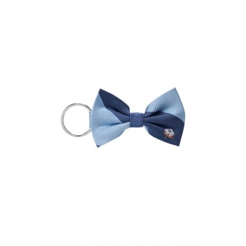 Blue Cotton Keychain